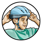 Open your mouth wide…big yawn! The helmet should pull down on the head. If not, refer back to step 5 and tighten the chin strap.